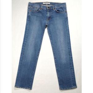 J BRAND 935 Capri Jeans Low Rise Distressed 1739E1